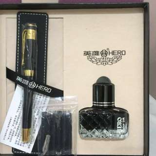Hero Fountain pen set