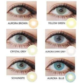 Assorted types of CONTACT LENSES