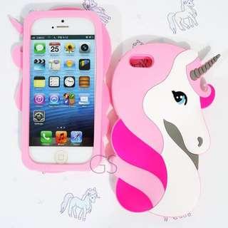 Silikon 3D Unicorn For iphone / samsung / oppo