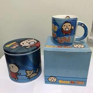 大口仔陶瓷杯連精美卡通收納罐