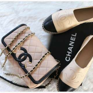 ❌SOLD 已賣❌Chanel Espadrilles Beige Leather shoes 草鞋 37 37.5
