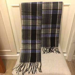 Niko and ... Check/ Plaid Wool Scarf 黑藍格仔頸巾
