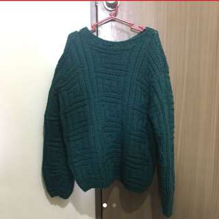 very thick wool sweater