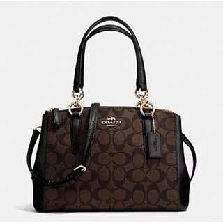 Authentic Coach F58291 Small Christie Carryall Hanbag Purse Bag
