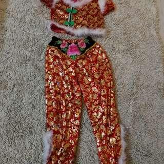 Girl chinese new year costume