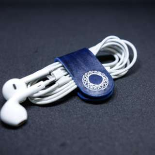 Leather magnetic cable clip