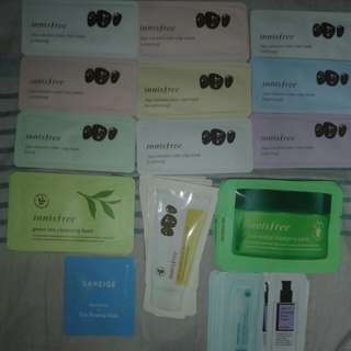 Assorted korean skin care products