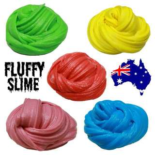 Strawberry Scented Fluffy Slime!! *No Borax*