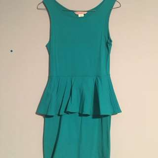 Peplum tight dress