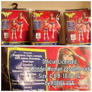 Official Licensed by Rubies USA WONDER WOMAN kids costume