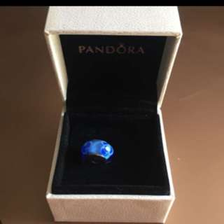 Pandora Blue Glass Charm