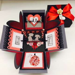 Valentines Day Handmade Explosion Box Card