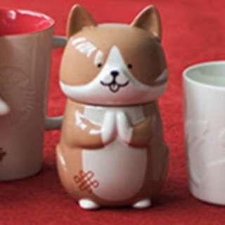 Starbucks dog design mug