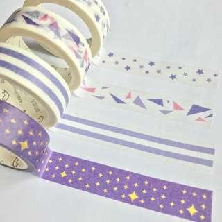 Washi Tape Sample - Colour Series Purple