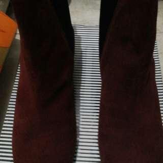Zara genuine suede leather boots