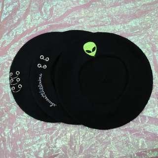 圓環/英文圓環/外星人造型貝蕾帽
