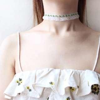手工小清新花朵薄紗脖子頸帶飾品