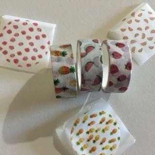3 Fruit Washi Tape
