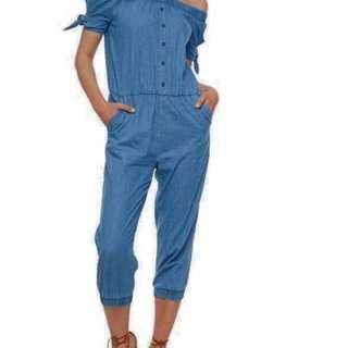 Denim Jumpsuit with pocket