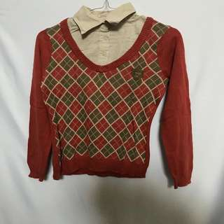Kemeja Sweater Oxford Orange TRISET