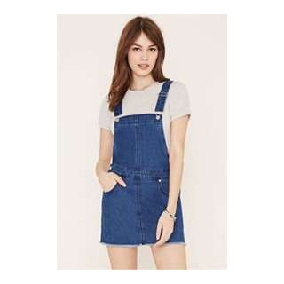 Forever 21 Denim Dungaree Dress