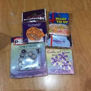 Scrapbook Materials (4 sets)