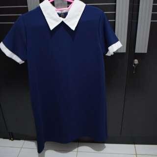 Dress colar navy