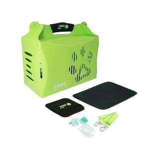🚚 crazy paws V2 伊西歐寵物摺疊箱便攜包Eco carrier外出提籠提箱L綠環保素材附背帶輕巧Iris