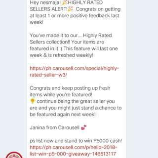 Thank you, Carousell! ☺ ♥