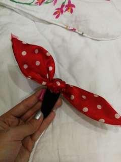 Red Ribbon Hair Clip