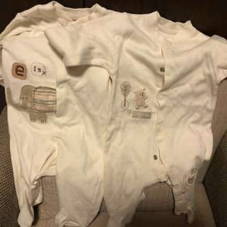 Nature Purest 0-3M sleepsuits