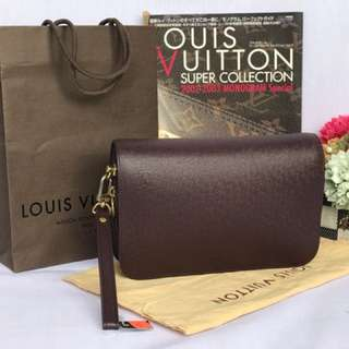 AUTH LV BAIKAL PURPLE CLUTCH BAG (0143454648)