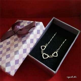 Sterling Silver Three Heart Bracelet