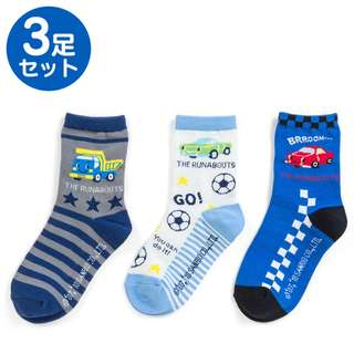 Japan Sanrio The Runabouts Kids Socks 3 Pairs Set (star)