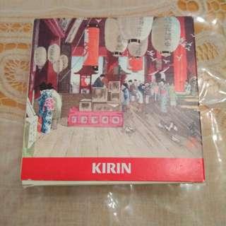Kirin 水松杯墊5個。有盒少殘未用過。新舊請看圖。謝絕完美主義者。