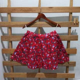 Red etnic skirt