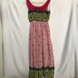 Dress panjang PINK bunga