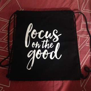 Drawstring bag (Focus on the good)