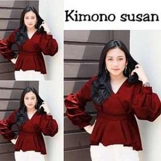 Kimono susan Rp70.000 wolpeach fit L. Redi jkt