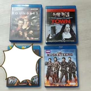 <SOLD> $18 for 1 TV Series Set +  2 Original                Blu ray Titles Movies