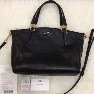 Authentic Like New Coach Kelsey black ghw small