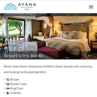 Ayana Resort and Spa Bali 2 nights Gift Certificate