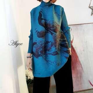 Alyce2 Pleat Dress. Short Version. Free Size