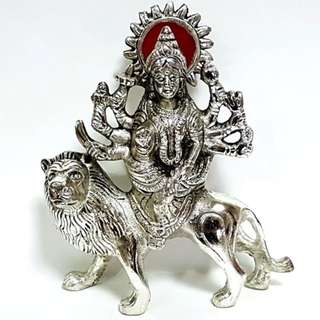 idol  Statue of  Deity Durga in solid metal