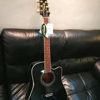 Takamine Original Acoustics Electric Guitar! Great high end EG-334SBC with gold details!  Still looks gd as i cant play & been left there. Only $450! Comes with guitar bag if u want.