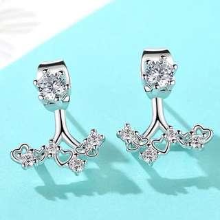 Silver 925 時尚閃石耳環
