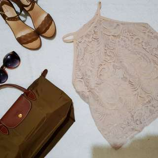 Haltered Laced Top