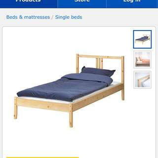 ikea fjellse single bed frame