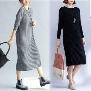 🎉 韓款寬鬆連身長裙