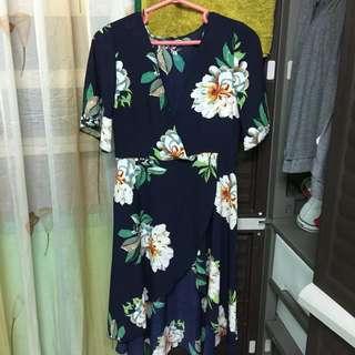 Floral hi-low flowy dress